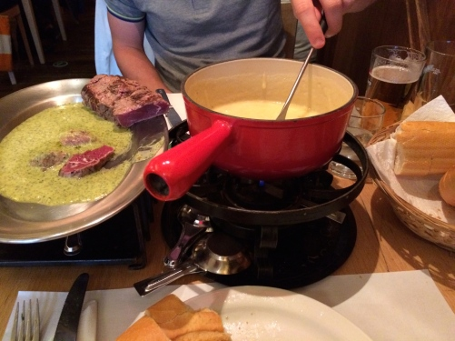 Fondue and Entrecote