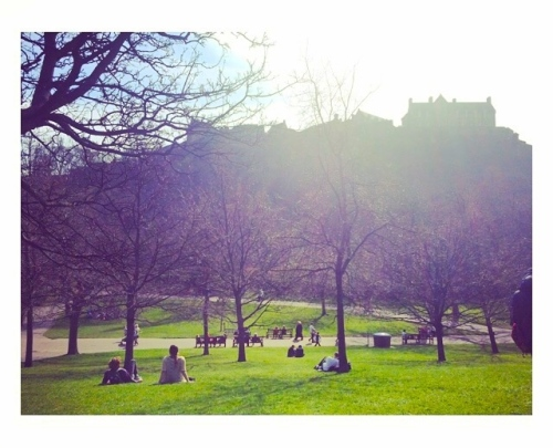 Lunch with a View in Princes Street Gardens