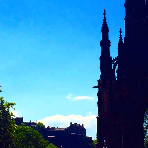 The Scott Monument and Edinburgh Castle